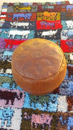 Approx. Size: 50cm / 20Inch in diameter and 30cm / 12Inch height  Colour: Brown.  Stunning Round Poufs - This shape is very unique and the