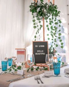 Decorate your event with stylish pieces created from copper piping. Hello Beautiful, Wedding Decorations, Copper, Lettering, Create, Stylish, Wedding Decor, Drawing Letters, Brass