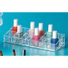 12 Section Acrylic Nail Polish Riser | Happy Organized Home SALE $5.99 Home Design Ideas