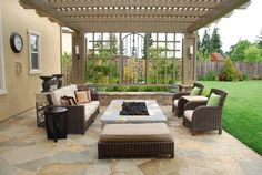 Outdoor Photos Built-in Rectangular Firepit Design, Pictures, Remodel, Decor and Ideas - page 2