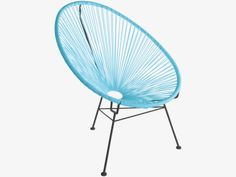 KODI BLUES Metal Blue decorative rope chair - HabitatUK