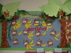New birthday board classroom march ideas Monkey Bulletin Boards, Football Bulletin Boards, Health Bulletin Boards, Elementary Bulletin Boards, Birthday Bulletin Boards, Classroom Birthday, Birthday Wall, Preschool Bulletin Boards, School Birthday