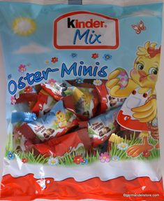 There is a lot going on at the Ferrero Kinder Mix Oster-Minis. The mixture of delicious whole milk chocolates with a delicate milk-cream filling, crispy cereals or delicious hazelnut cream with waffle presents itself here in bite-size. Minis, Easter Candy, Easter Eggs, Milka Chocolate, Chocolate Easter Bunny, Marzipan, Bite Size, Mixed Drinks, Easter Baskets