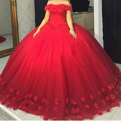 Find More Quinceanera Dresses Information about Charming Red Quinceanera Dresses with hand made flowers Ball Gown prom dress pageant gown sweet 16 dress vestidos de 15 anos,High Quality red quinceanera dresses,China sweet 16 dresses Suppliers, Cheap quinceanera dresses from BRLMALL GracefulBridal Store on Aliexpress.com