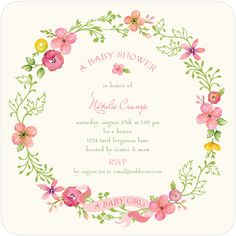 cute girl invitation from tinyprints