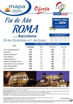 Roma Fin de Año salida Barcelona 29 Diciembre **Precio Final desde 289** ultimo minuto - http://zocotours.com/roma-fin-de-ano-salida-barcelona-29-diciembre-precio-final-desde-289-ultimo-minuto-2/