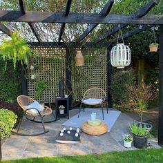 Don't keep your style inside – bring it out. With outdoor lighting, neutral rattan designs and a cosy log burner for colder nights,… Large Backyard Landscaping, Pergola Garden, Small Backyard Design, Small Backyard Landscaping, Garden Design, Backyard Ideas, Balcony Garden, Boho Garden Ideas, Garden Bed