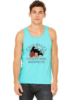 cash rules everything around me funny Tank Top