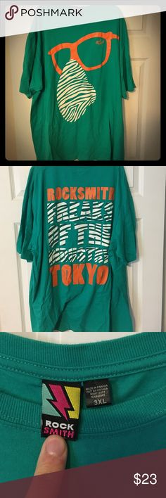 Rick Smith Tokyo - T-shirt - Limited Edition Party Rockin - Green & Orange - XXXL - Used / excellent condition Diamond Supply Co. Shirts Tees - Short Sleeve