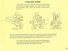 Walt Disney's Tips on Animation- Follow-Through