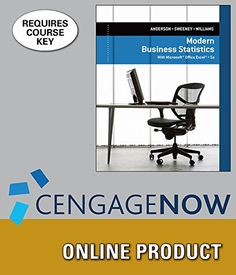 CengageNOW+for+Anderson/Sweeney/Williams'+Modern+Business+Statistics+with+Microsoft+Excel,+5th+Edition