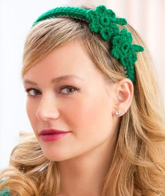 Shamrock Headband Crochet Pattern | Red Heart