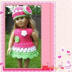 PATTERN – Crocheted Doll Dress for American Girl Doll — Doll Dress 1 « Lilyknitting – Patterns and Crochet