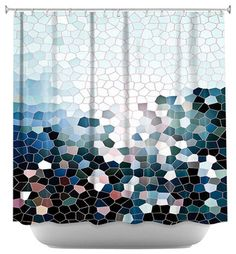 Shower Curtain Artistic - Patternization I - contemporary - Shower Curtains - DiaNoche Designs