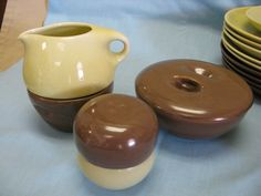 Russel Wright Iroquois Yellow and Brown China