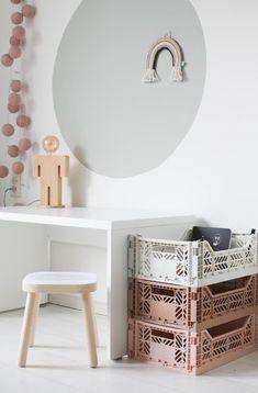 Kids Playroom Colors, Playroom Curtains, Kids Play Spaces, Girl Room, Kids Bedroom, Room Inspiration, Ikea, Design, Storage Crates