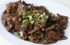 Photo about Chinese style stir fried beef slices with spring onion. Image of meal, chinese, stir - 23619953 Beef Recipes, Cooking Recipes, Modern Food, Fried Beef, Beef Stir Fry, Food And Drink, Vegetarian, Yummy Food, Snacks