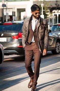 Suit- Tiger Of Sweden Shirt- Alexander McQueen Tie- Sand Jacket- Handstich Shoes- John Varvatos Shades- Ray Ban