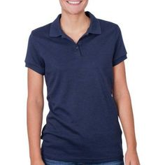 George Juniors School Uniform Short Sleeve Polo Shirt, Girl's, Size: Large, Blue