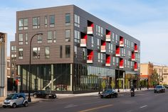 Energizing the street, Brunsfield North Loop is located on Washington Avenue in the North Loop neighborhood of Minneapolis. #homedecor #architecture #design #minneapolis