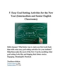 Hello January! What better way to start your first week back than with some easy goal setting activities for your students? Help them make the most of the New Year by modelling what goal setting looks like and shaping their future stories. Engaging. Meaningful.