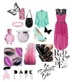"""How would dress blurry Glue :)"" by aura-buti on Polyvore featuring beauty, Kate Spade, City Chic, Karen Millen, Palm Beach Jewelry, Oscar de la Renta and Guerlain"