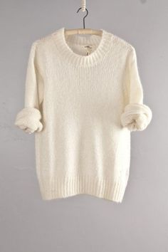 cozy ivory sweater by Etoile Isabel | http://newfashiontrendsforgirls.blogspot.com
