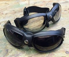 BURNING MAN SPECIAL - 2 Pair of Comfy Cushioned Cyber Rave Playa Safe Riding Goggles- 1 Day Pair, 1 Night Pair -4 lens colors to choose from by jadedminx on Etsy