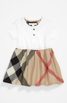 Burberry Check Skirt Dress (Baby Girls) available at #Nordstrom