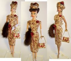 Vintage Burgundy handmade fashion purse outfit OOAK Victoire Roux Silkstone | Dolls & Bears, Dolls, Barbie Contemporary (1973-Now) | eBay!