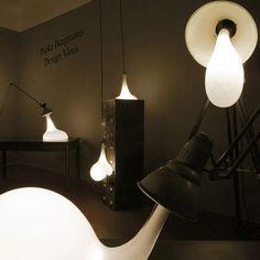 Unique over sized light bulbs designed by Pieke Bergmans