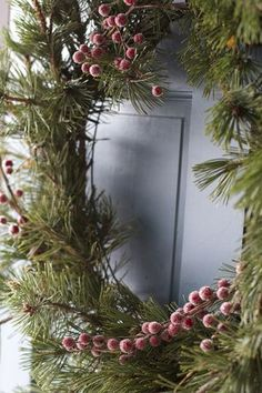 128 Best Evergreen Wreath Images On Pinterest Christmas