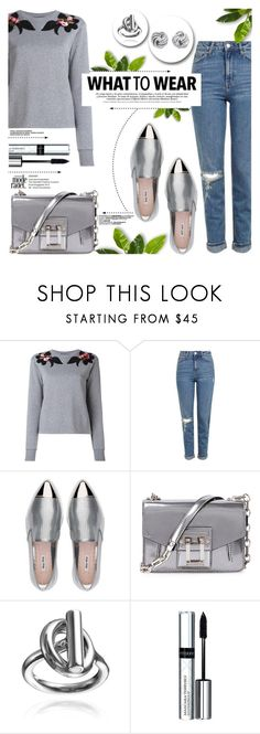 """""""What To Wear"""" by yurisnazalieth ❤ liked on Polyvore featuring Dolce&Gabbana, Topshop, Miu Miu, Proenza Schouler and By Terry"""