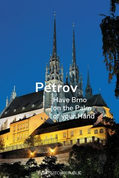 It would be difficult to imagine the panorama of Brno without the two towers of the Cathedral of St. Peter and St. Petrov stands on a hill in the historical centre of the city and welcomes all visitors to the city from afar. The Two Towers, Palm Of Your Hand, Czech Republic, Countryside, Cathedral, Tourism, Centre, City, Travel