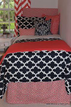 design your own dorm txl duvet cover navy coral bedroomnavy