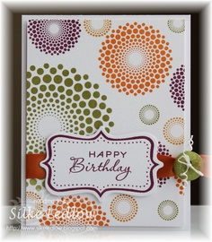 Fun birthday card by Silke Ledlow, Papertrey Ink Cards (Mar'13) #PTI, #colors