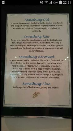 Something old poem and its meanings Wedding Poems, Wedding Humor, Wedding Tips, Our Wedding, Wedding Planning, Dream Wedding, Something Old Something New, Something Blue Wedding, Old New Borrowed Blue