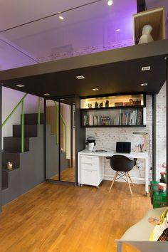 Apartamento com decoração alegre e iluminação extravagante - limaonagua