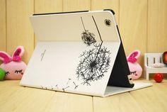 Elegant white Leather Dandelion iPad Air case Cute by charmscrafts, $22.69