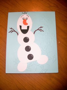 Addison's 8th birthday card, Frozen theme.