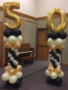 square balloon columns balloon columns with numbers 50th Birthday Balloons, 50th Birthday Party Decorations, Moms 50th Birthday, Birthday Balloon Decorations, Anniversary Decorations, 70th Birthday Parties, 50th Party, 50th Wedding Anniversary, Class Reunion Decorations