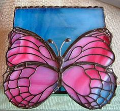 A Butterfly Haze of Blue and pink