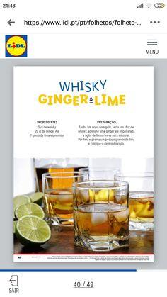 Ginger Ale, Cocktail Drinks, Cocktails, Whisky, Cantaloupe, Fruit, Food, Craft Cocktails, Essen