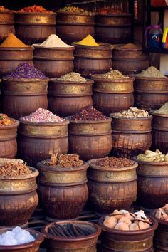 Spices in Morocco pinned by Diane Stauffer