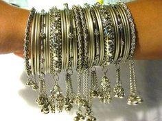 Indian Bangles - Bellydance Indian Bangle Silver Imitation Kangan Handmade Kada & Bangles Set India Jewelry mogulinterior, http://www.amazon.com/gp/product/B009FUYF6Q/ref=cm_sw_r_pi_alp_l.4yqb1ZNZZA3