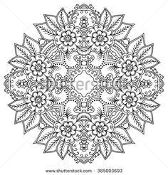 Vector henna tattoo mandala. Mehndi style.
