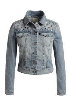 Esprit studded denim jacket - Bayberry Chic