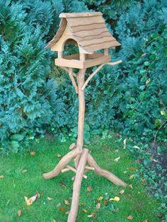 Rustic Oak bird table