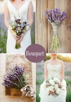 A pretty idea for lavender bouquets.