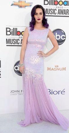 A purple Katy Perry and pants-less Miley Cyrus at Billboard Awards